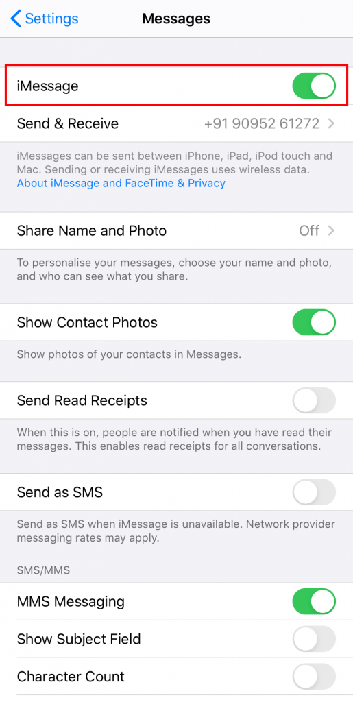 sync Text Messages