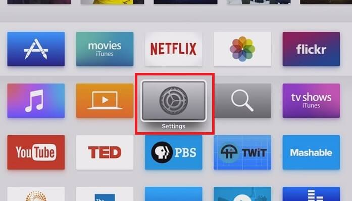 Turn Off Apple TV from Settings