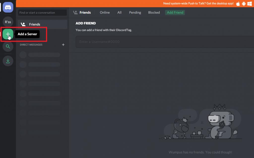 Add a Server - Link Twitch Emotes on Discord Server