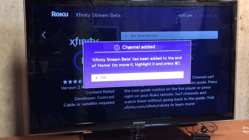 Xfinity Stream added