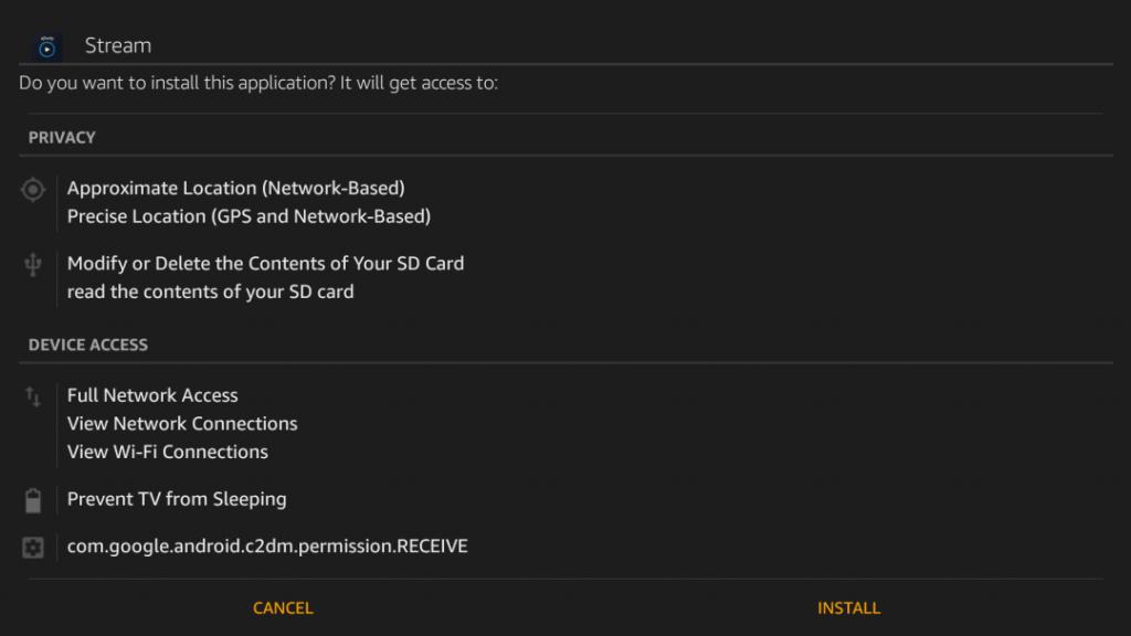 Xfinity App on VIZIO Smart TV through Firestick