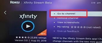 Xfinity on Roku