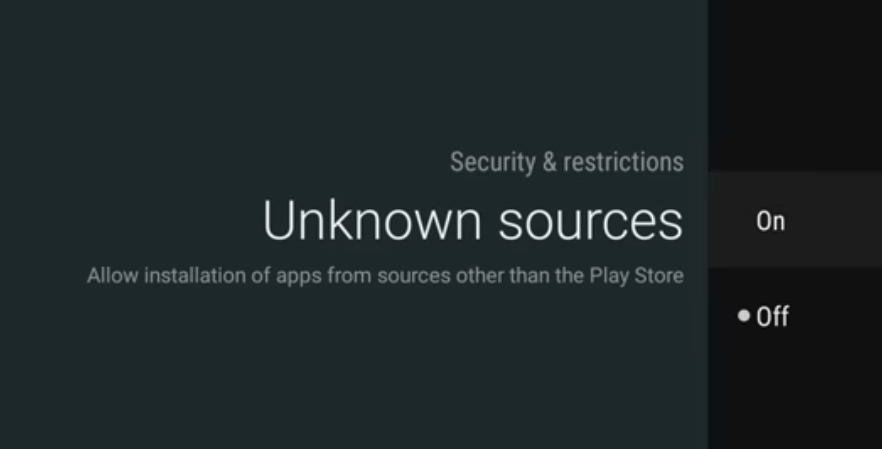Enable Unknown sources option
