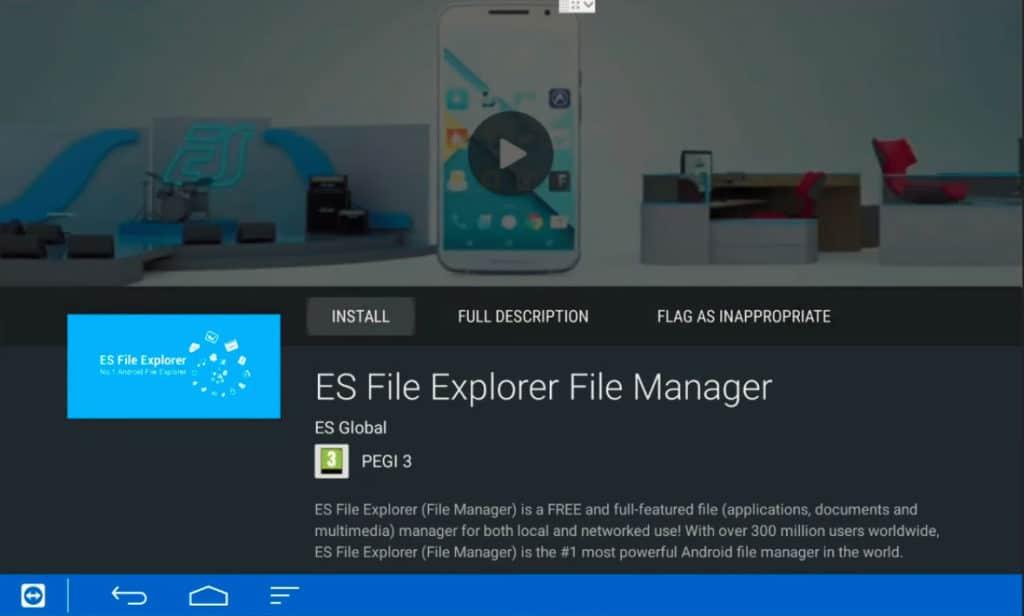 Install ES File Explorer