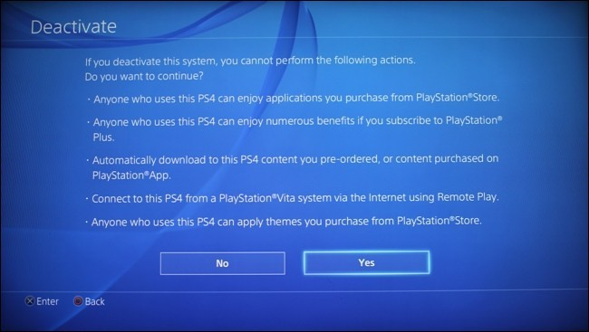 Accept to Deactivate: How to Reset PS4