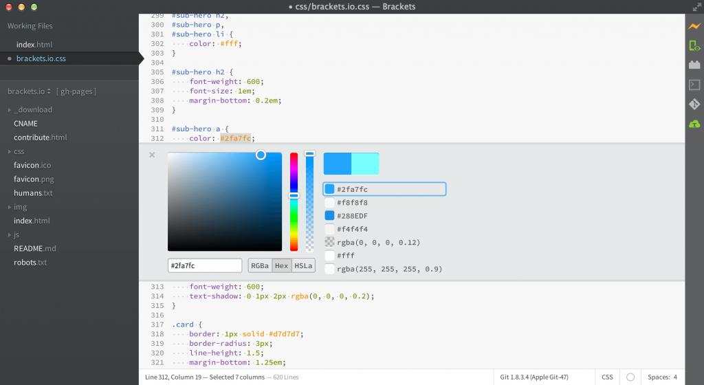 Brackets - Best HTML Editors for Mac
