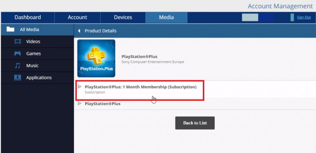 PlayStation Plus subscription plan
