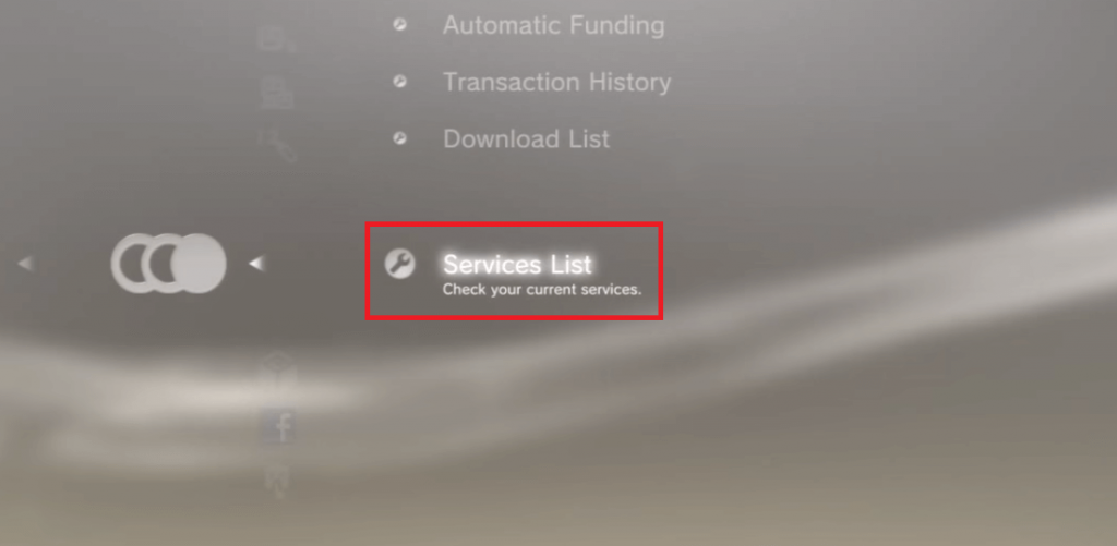Select Services List