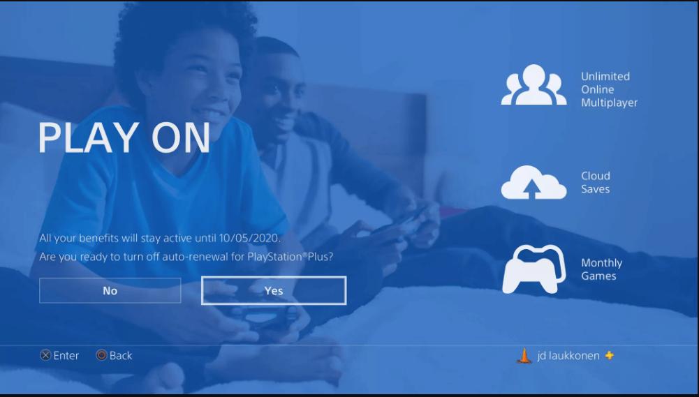 Cancel PlayStation Plus subscription on PlayStation 4