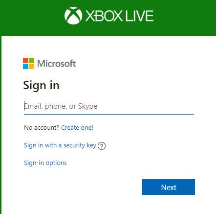 Login to Microsoft  account