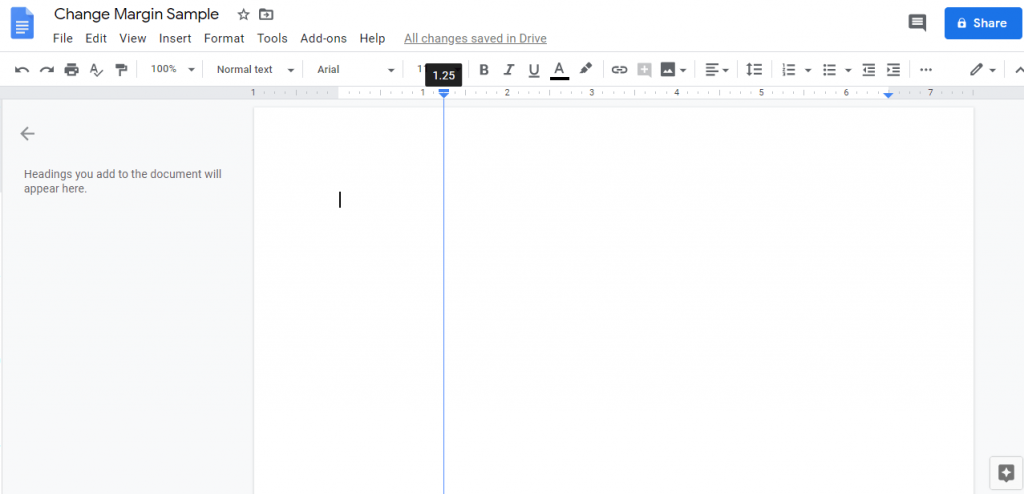 Changing Left Margin - How to Change Margins In Google Docs