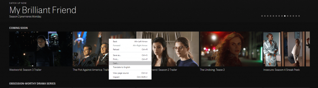 Chromecast HBO NOW