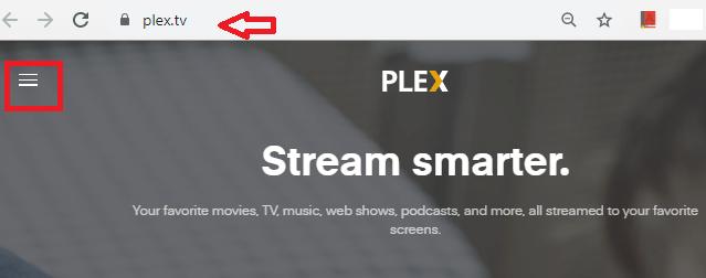 Visit Plex web page