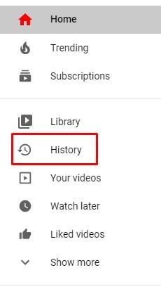 History tab