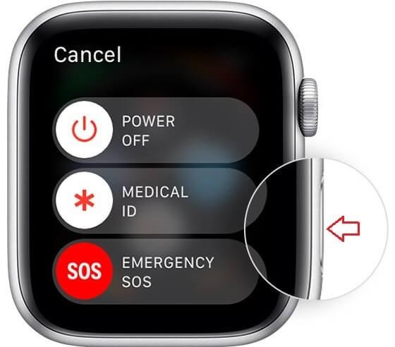 Restart the Apple Watch