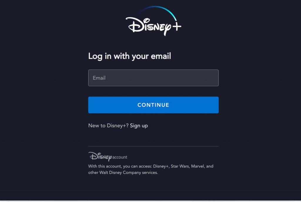 Login to Disney Plus