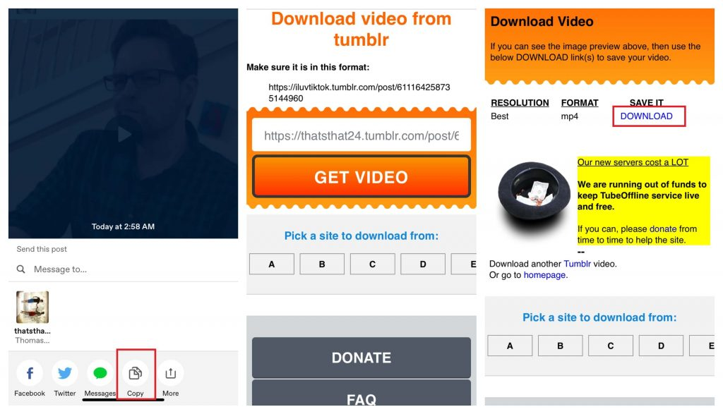 Download Tumblr Videos on iPhone and iPad