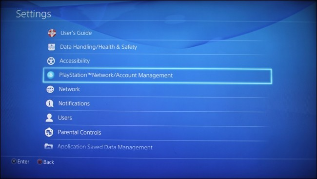 Highlight PlayStation Network or Account Management