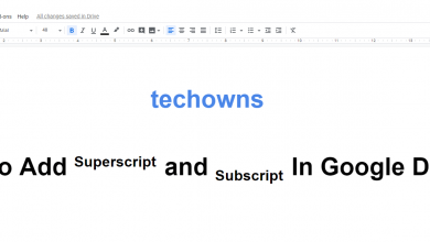 How to add Superscript and Subscript In Google Docs