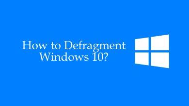 How to defragment Windows 10