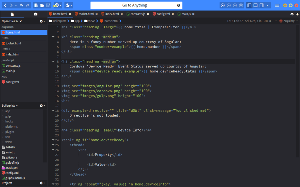 Komodo Edit - Best HTML Editors for Mac