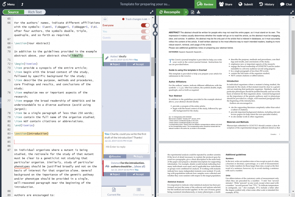 Overleaf - Best LaTeX Editor for Mac