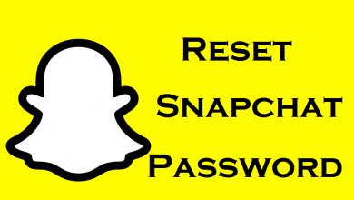 Reset Password on Snapchat