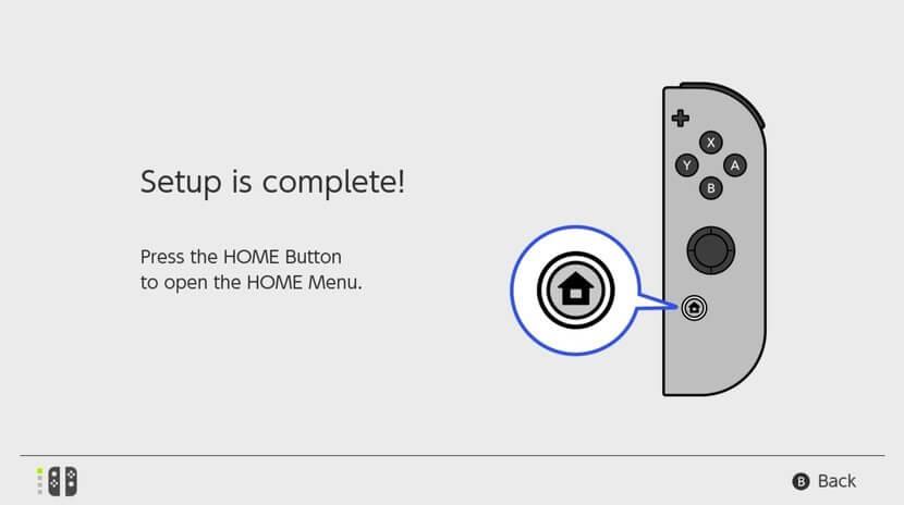 Set up Nintendo Switch