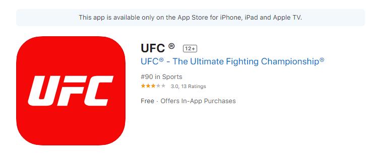Install UFC on Apple TV