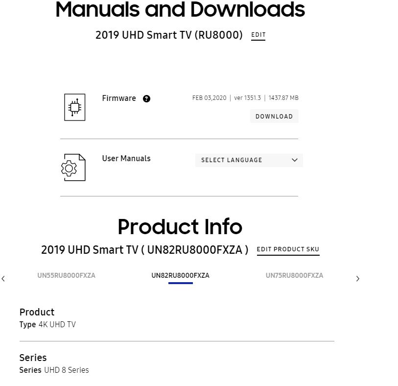 Update your Samsung Smart TV via USB