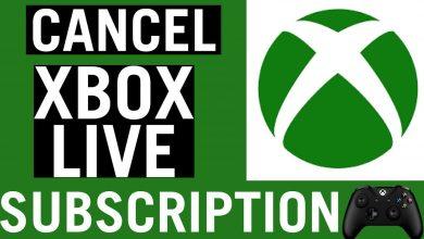 cancel xbox live