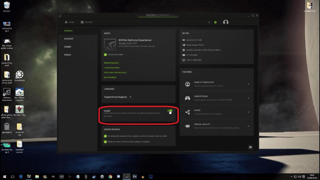 disable NVIDIA overlay
