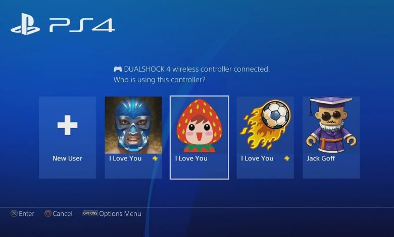 how to delete account on ps4