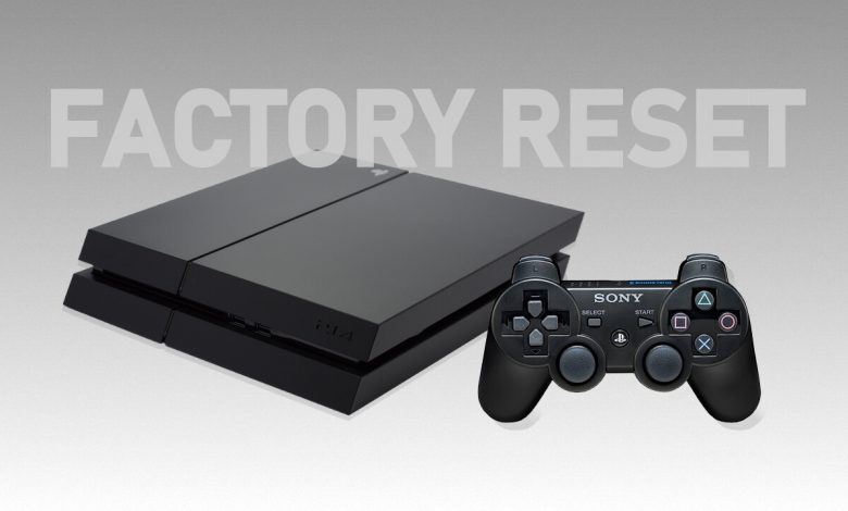 how to reset ps4 & ps3