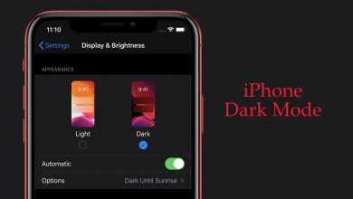 iPhone Dark Mode
