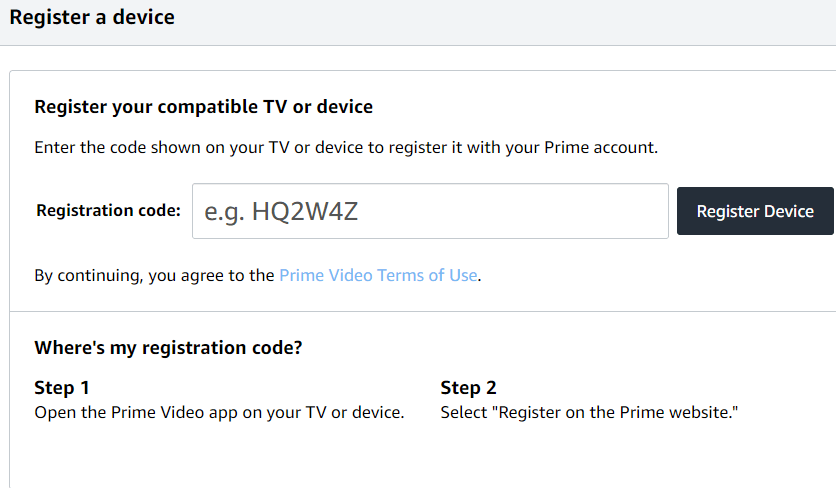 Activate Amazon Prime on Samsung Smart TV
