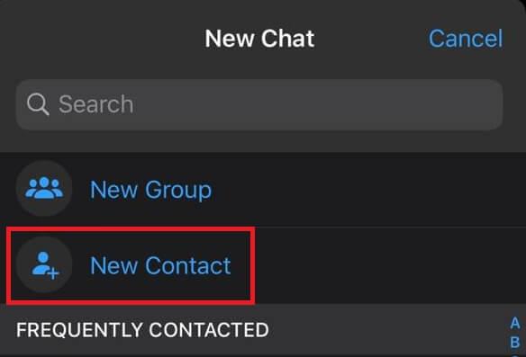 Add Contact on Whatsapp (iPhone)