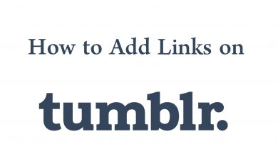 Add links on Tumblr