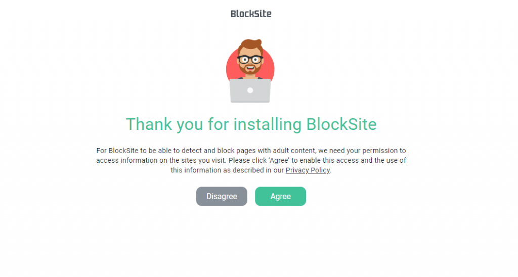Agree with Block Site Privacy Policy