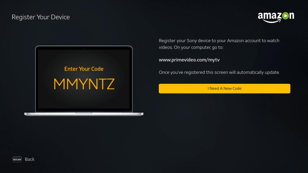 Enter code to login