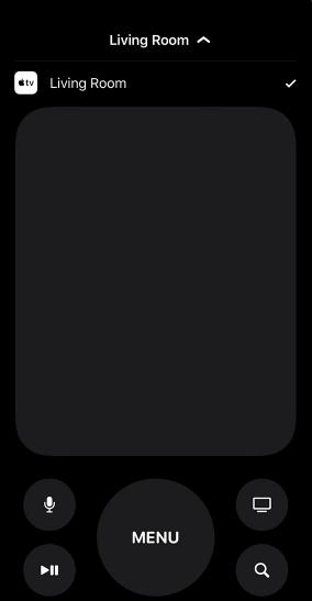 Apple TV Remote on iOS