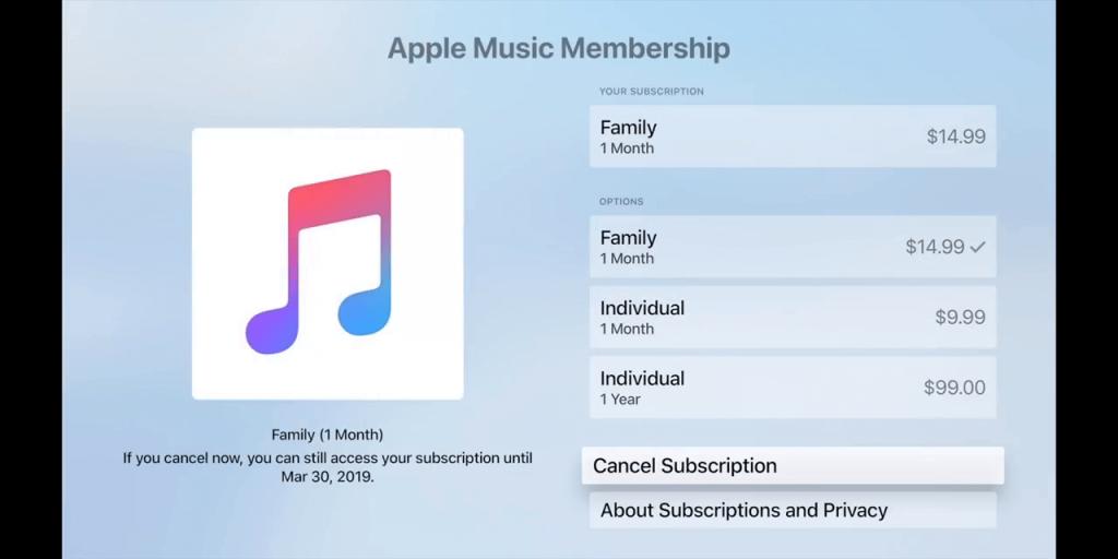 Cancel Apple Music Subscription