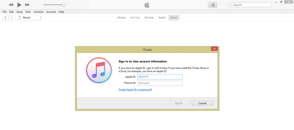 Apple ID credentials