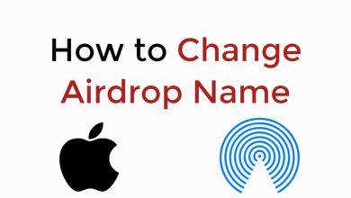 Change AirDrop Name
