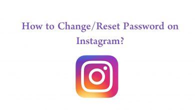 Reset Password on Instagram