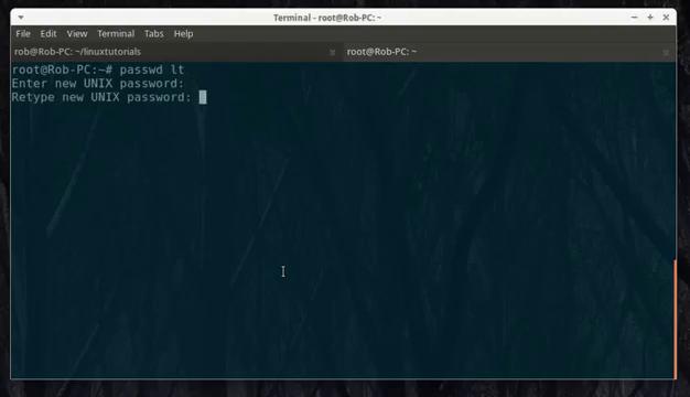 Change Password on Linux