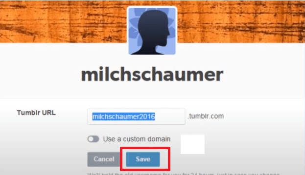 Change Tumblr Username