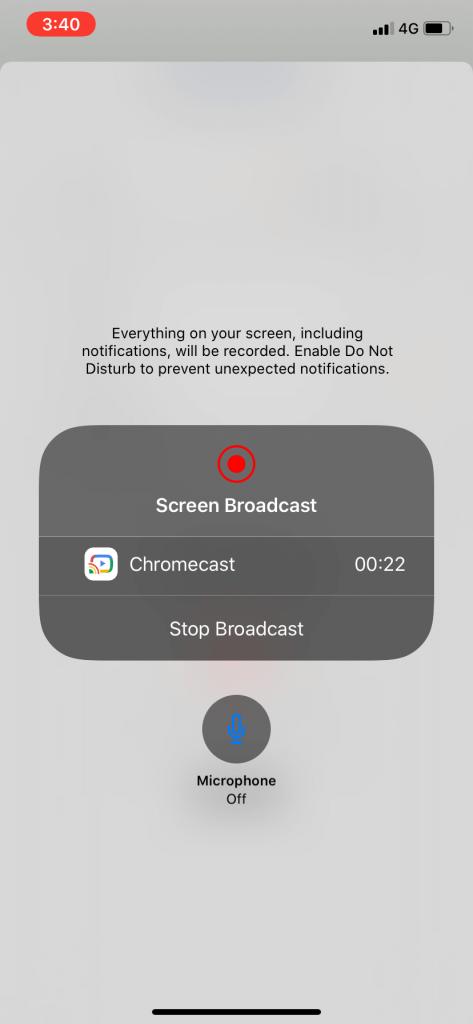 Stop Broadcast