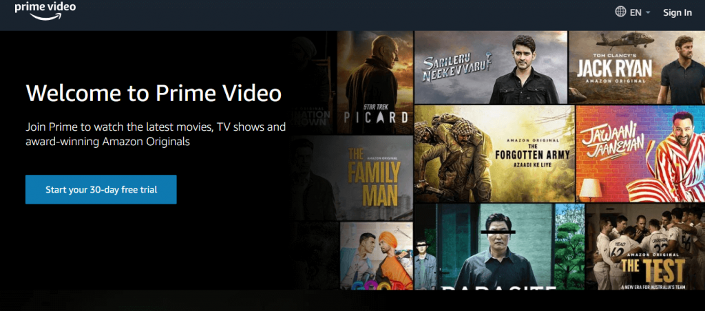 Click on Sign In:  chromecast amazon prime