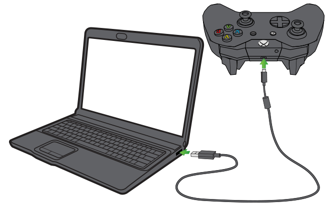 Connect Xbox One Controller to PC using USB Cable